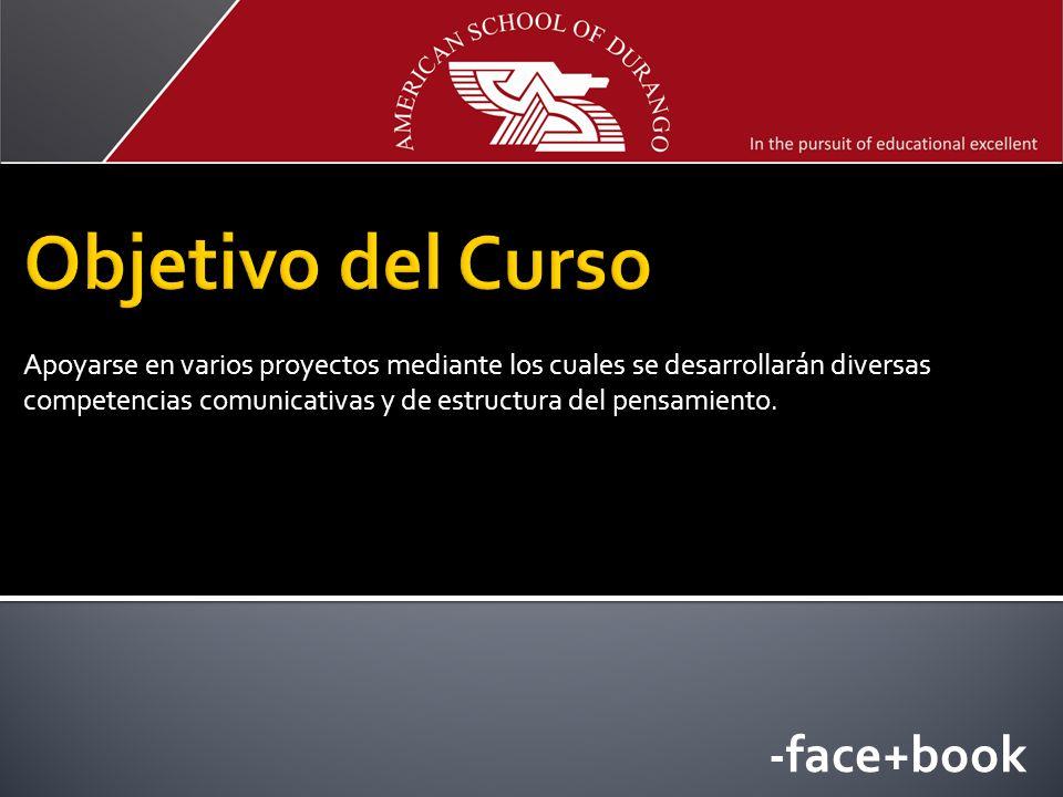 Objetivo del Curso -face+book