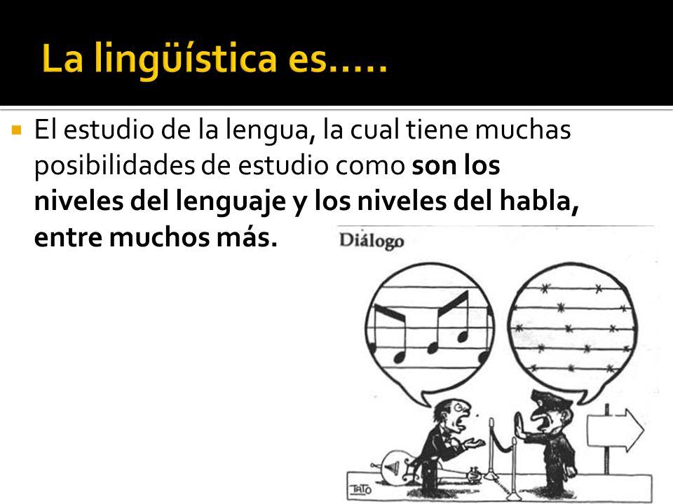 La lingüística es…..