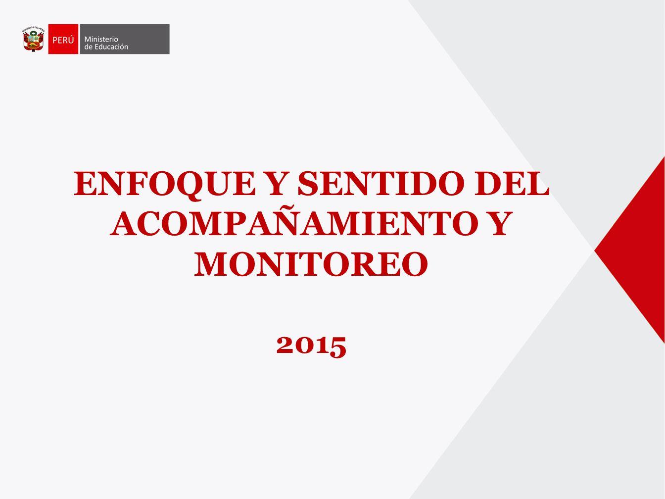ENFOQUE Y SENTIDO DEL ACOMPAÑAMIENTO Y MONITOREO 2015