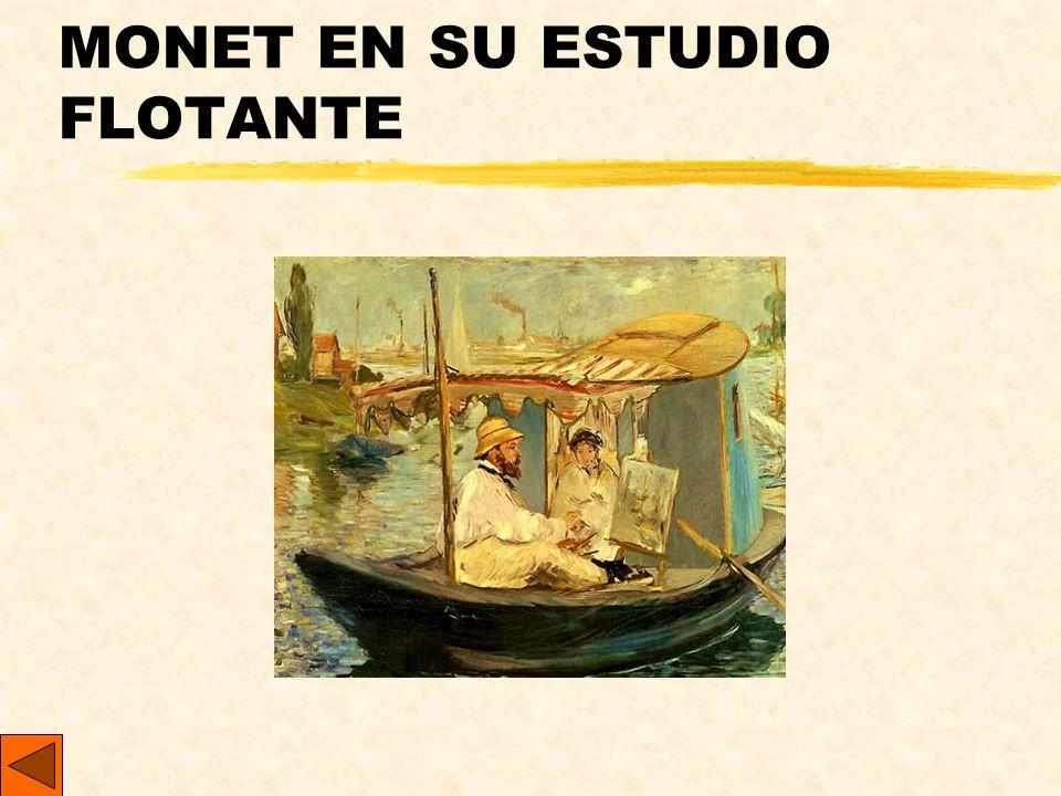 MONET EN SU ESTUDIO FLOTANTE