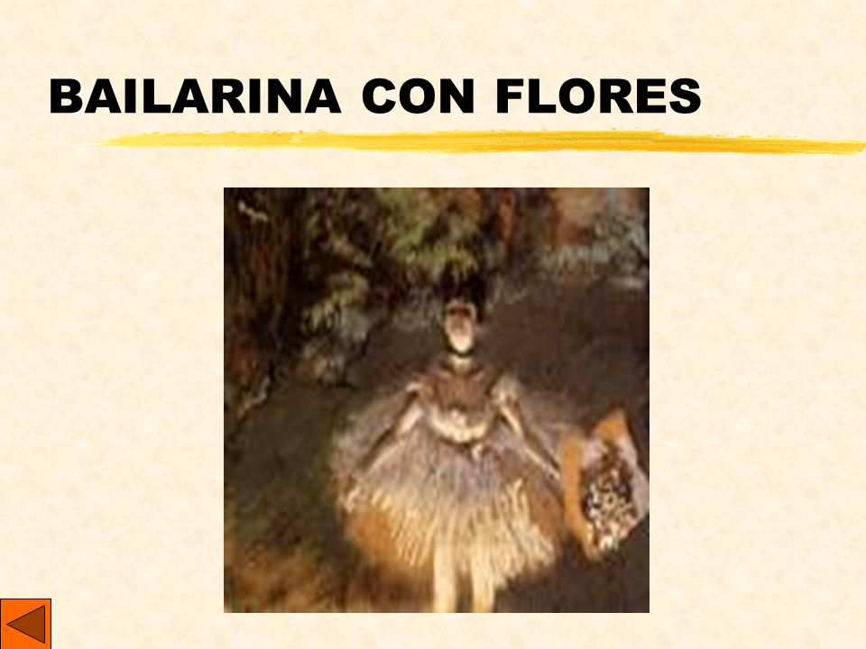 BAILARINA CON FLORES