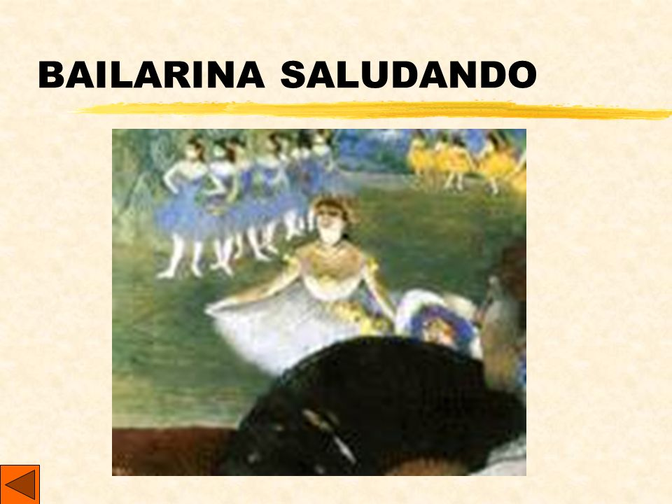 BAILARINA SALUDANDO