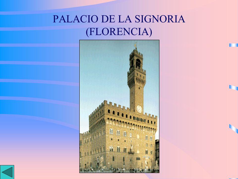 PALACIO DE LA SIGNORIA (FLORENCIA)
