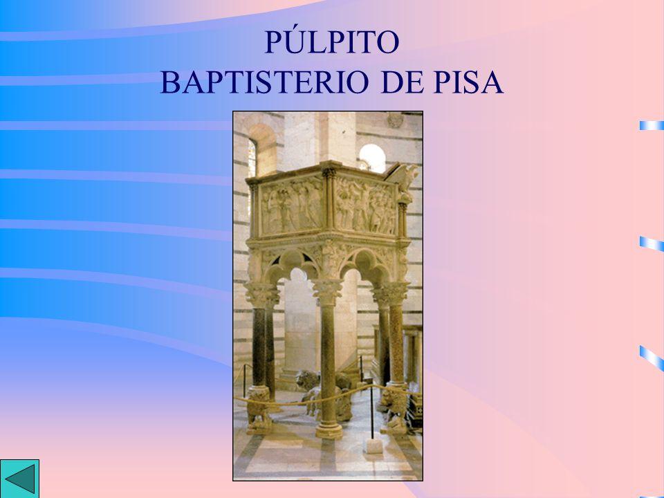 PÚLPITO BAPTISTERIO DE PISA