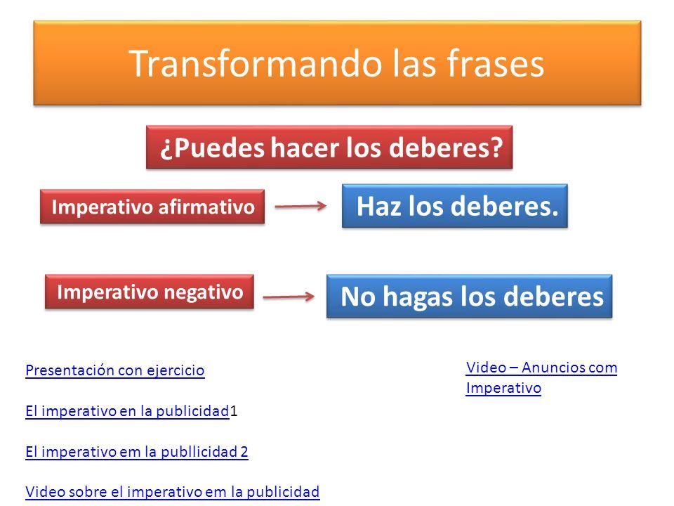 imperativo negativo español