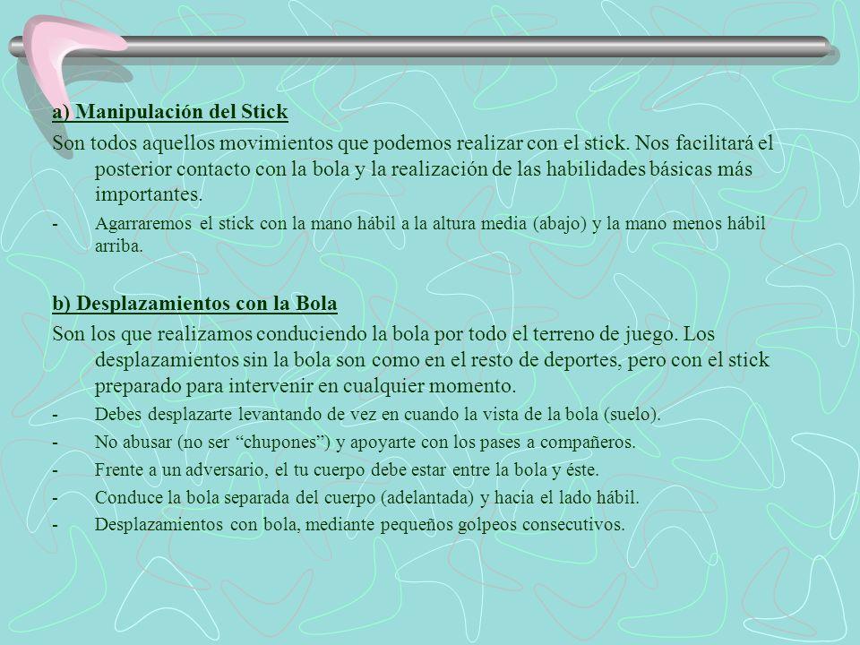 a) Manipulación del Stick