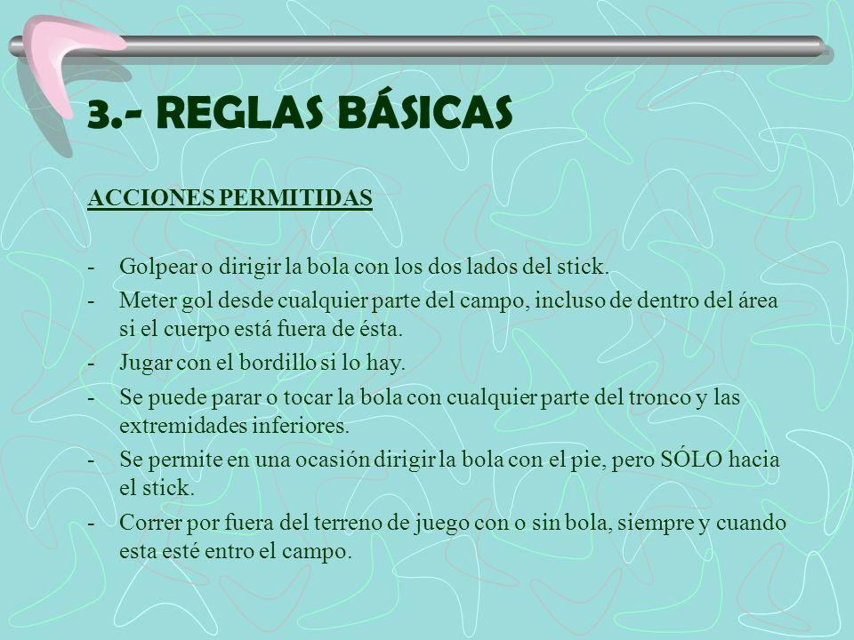 3.- REGLAS BÁSICAS ACCIONES PERMITIDAS