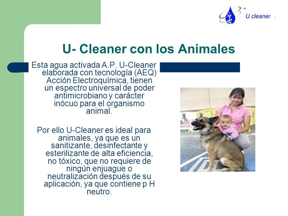 U- Cleaner con los Animales