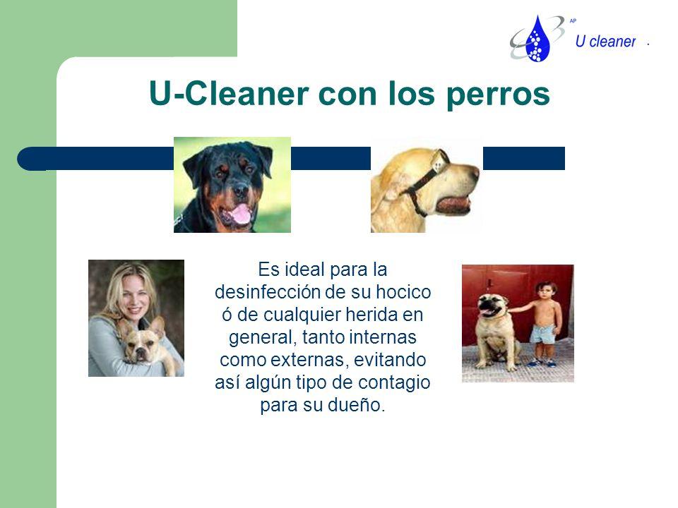 U-Cleaner con los perros