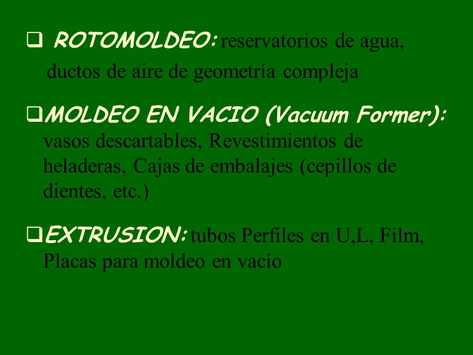ROTOMOLDEO: reservatorios de agua,