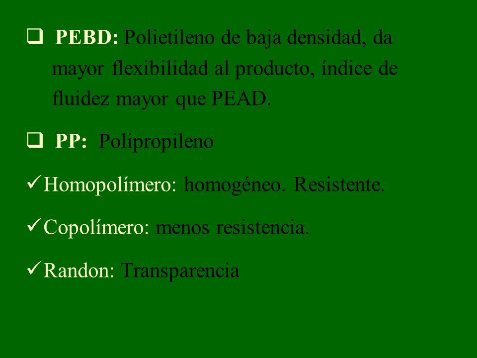 PEBD: Polietileno de baja densidad, da