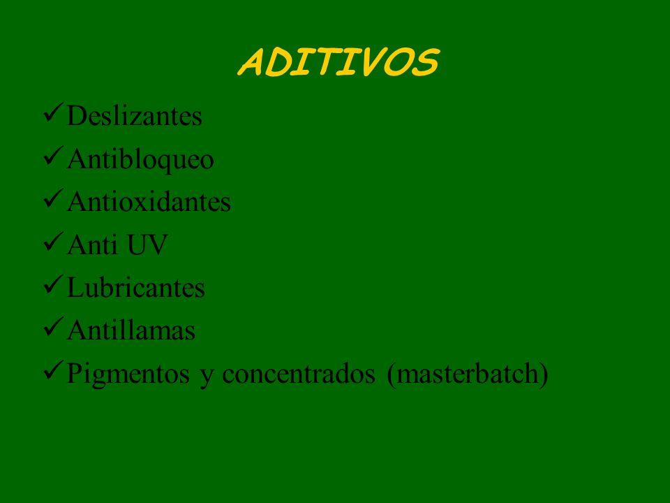 ADITIVOS Deslizantes Antibloqueo Antioxidantes Anti UV Lubricantes