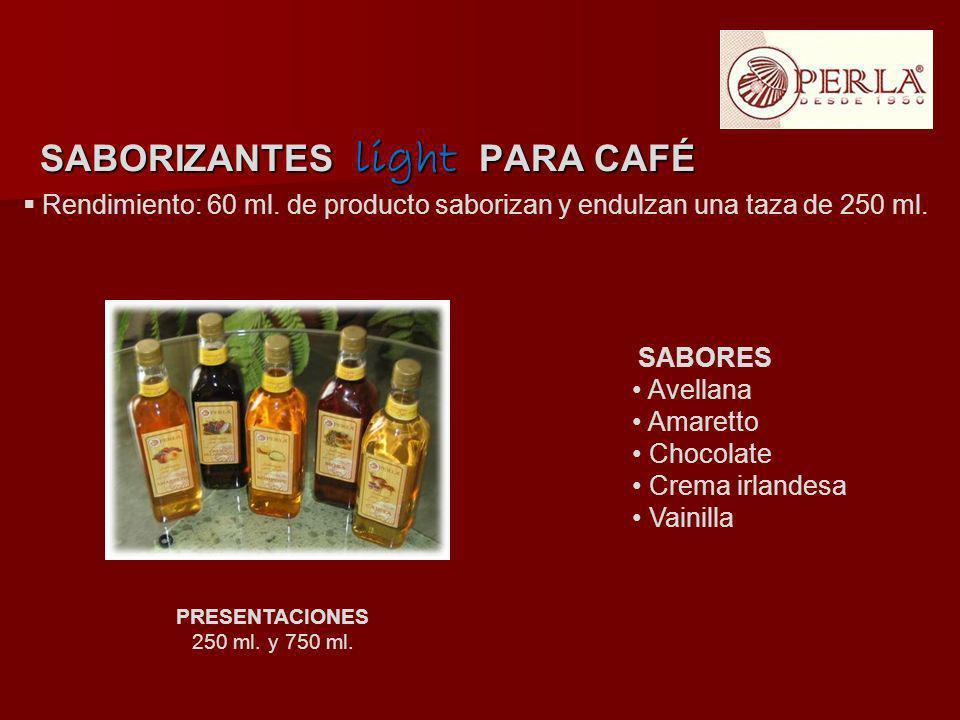 SABORIZANTES light PARA CAFÉ