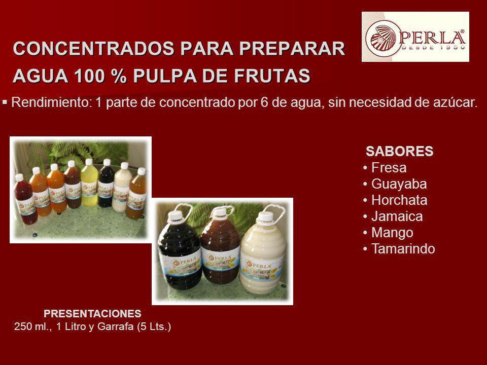 250 ml., 1 Litro y Garrafa (5 Lts.)
