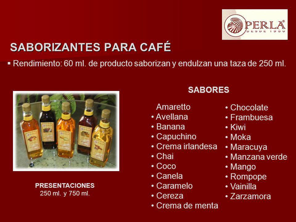 SABORIZANTES PARA CAFÉ