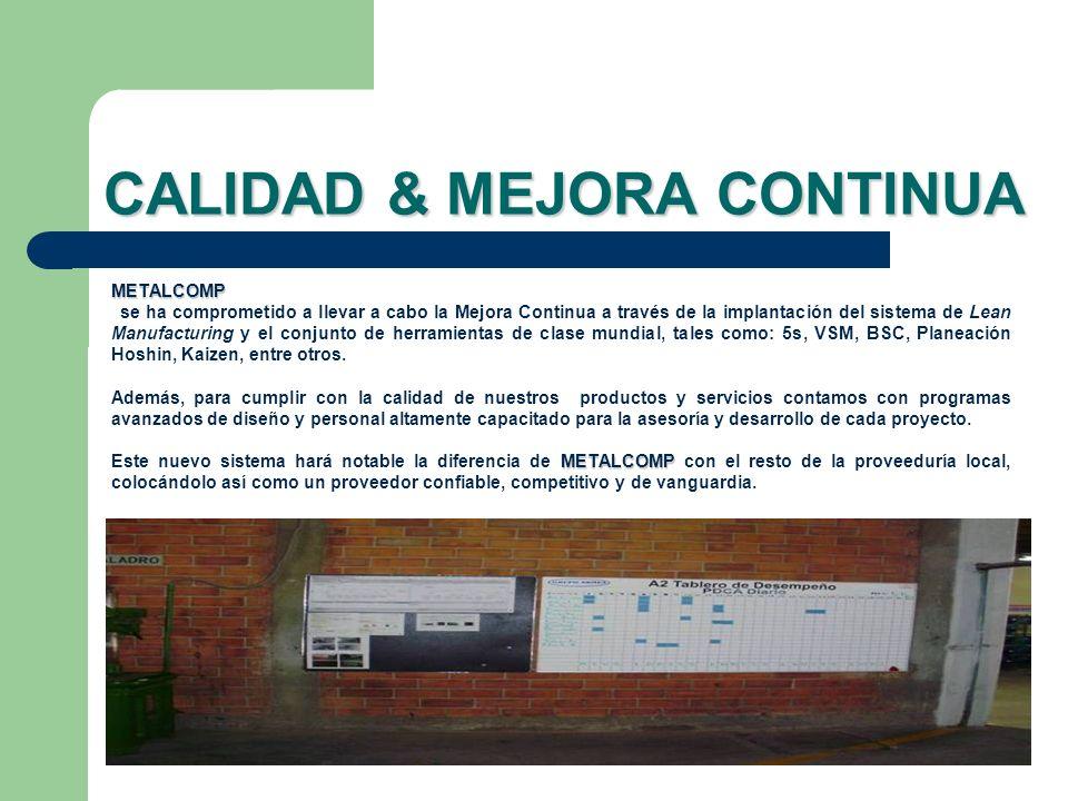 CALIDAD & MEJORA CONTINUA