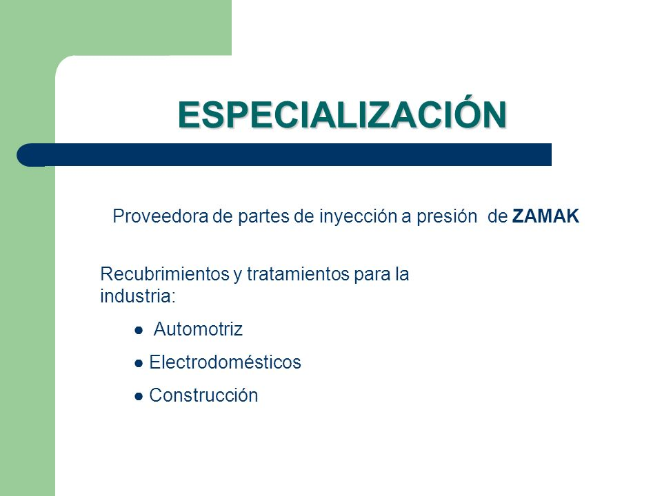 Proveedora de partes de inyección a presión de ZAMAK