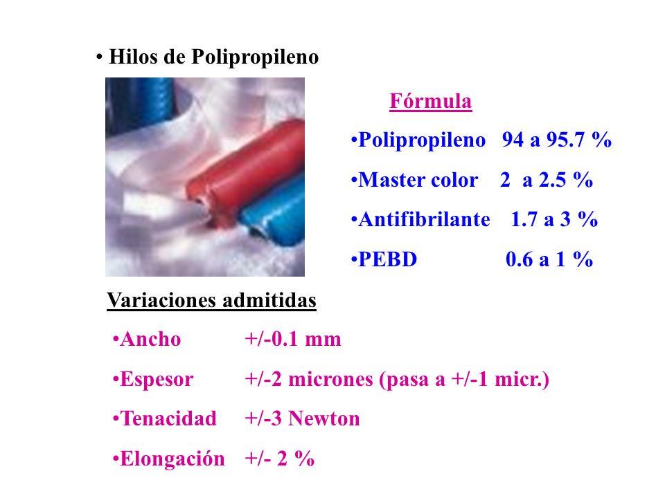 Hilos de Polipropileno