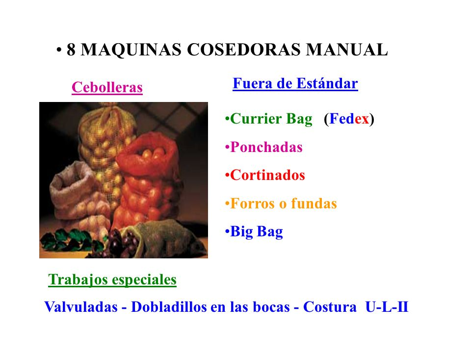 8 MAQUINAS COSEDORAS MANUAL