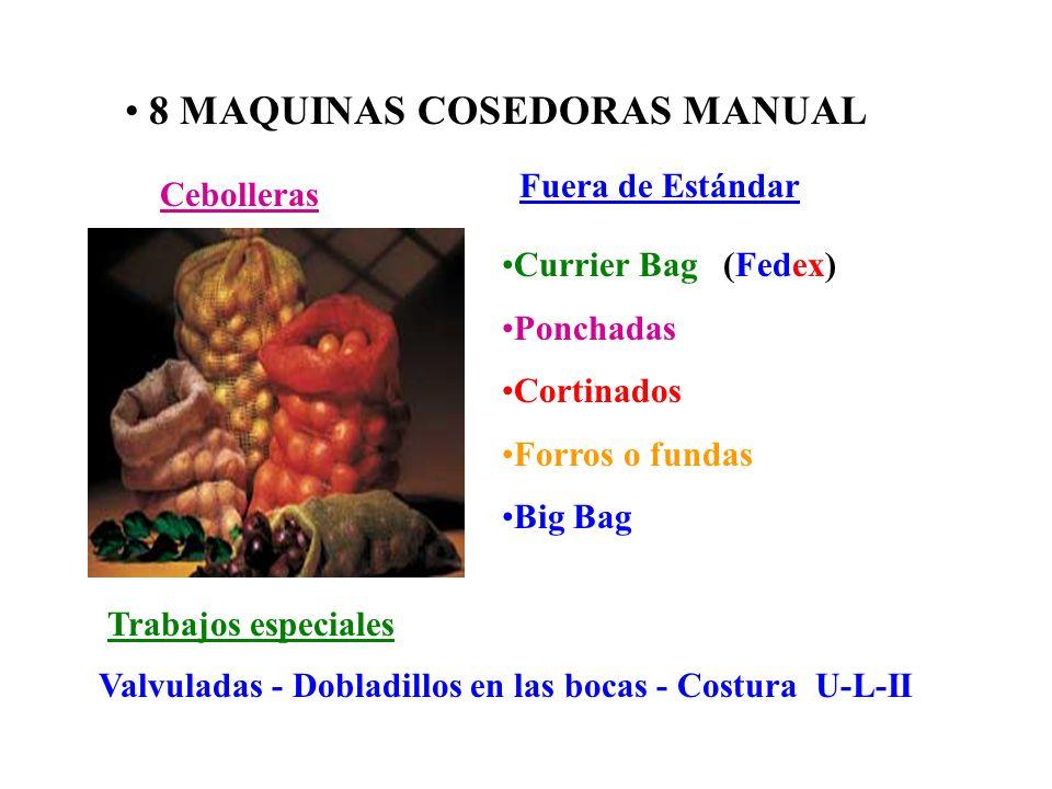 8 MAQUINAS COSEDORAS MANUAL