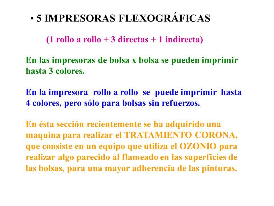 5 IMPRESORAS FLEXOGRÁFICAS