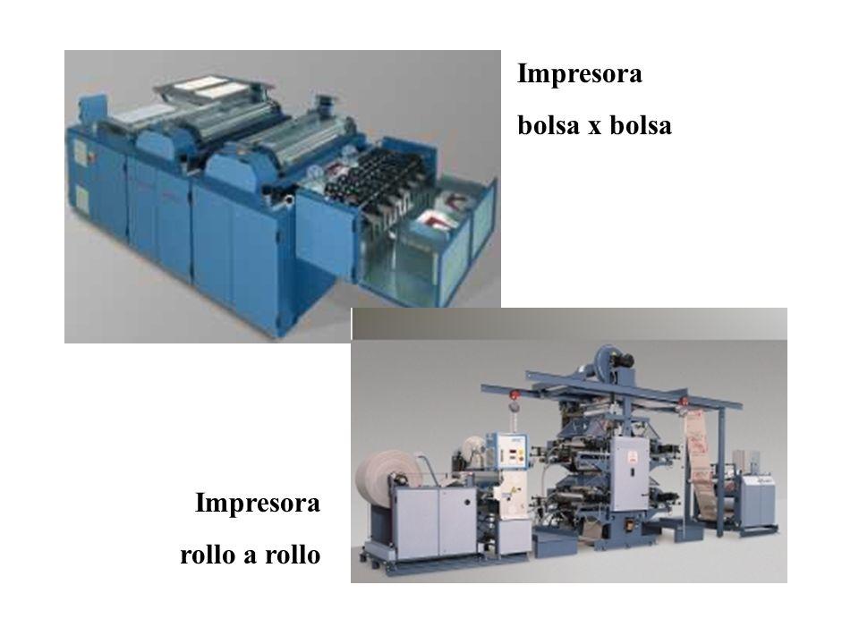 Impresora bolsa x bolsa Impresora rollo a rollo