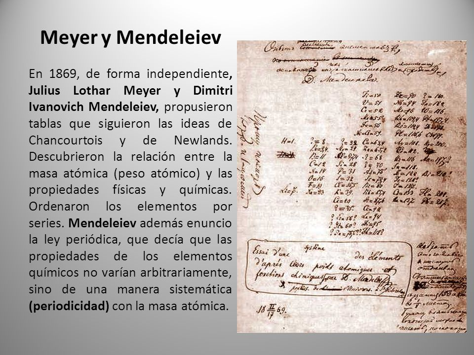 Tabla periodica cmo se construy ppt descargar 7 meyer y mendeleiev urtaz Image collections
