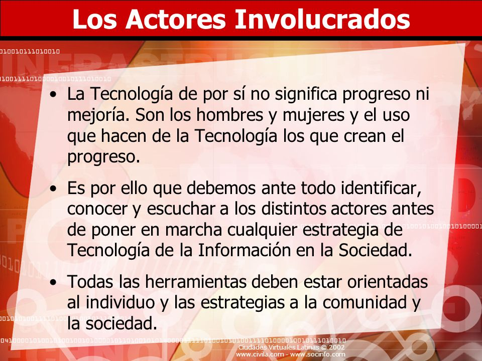 Los Actores Involucrados