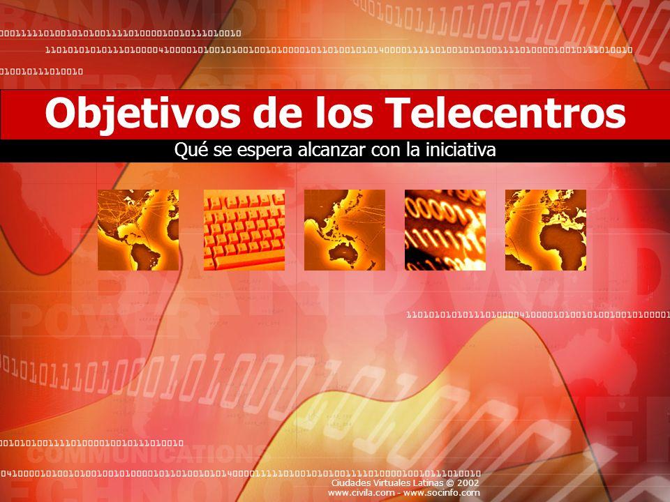 Objetivos de los Telecentros
