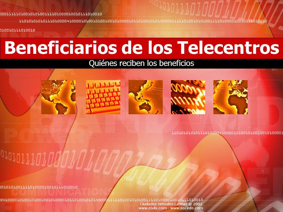 Beneficiarios de los Telecentros