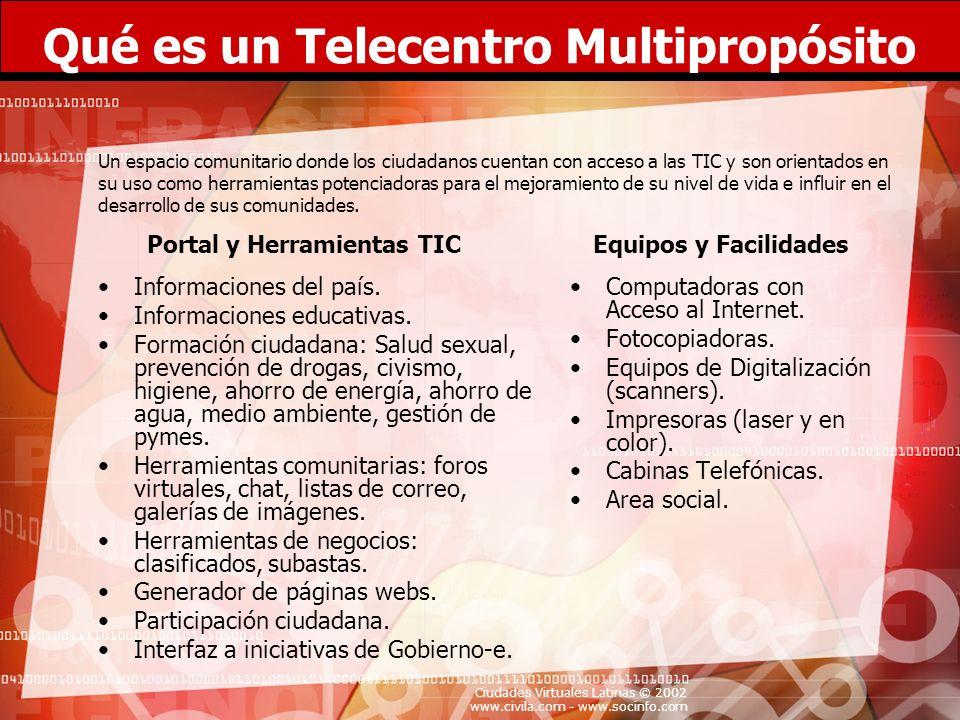 Qué es un Telecentro Multipropósito