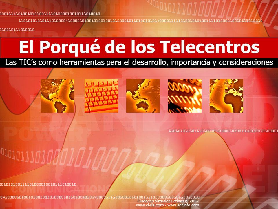 El Porqué de los Telecentros