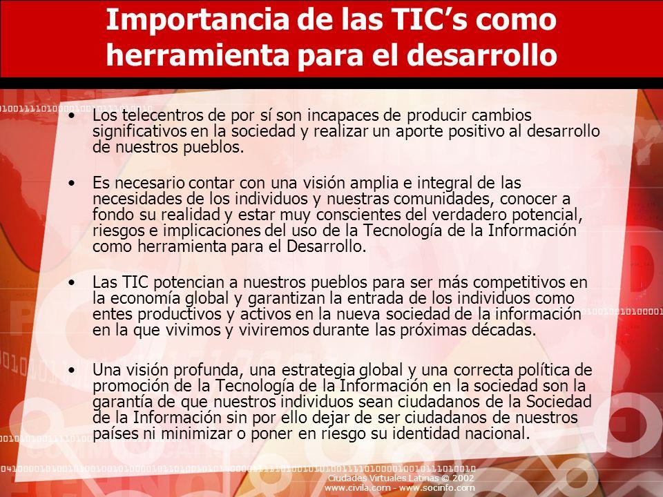 Importancia de las TIC's como herramienta para el desarrollo