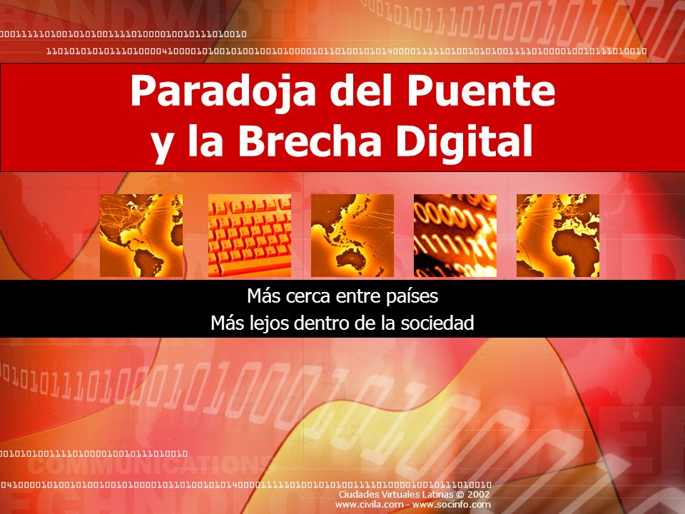 Paradoja del Puente y la Brecha Digital