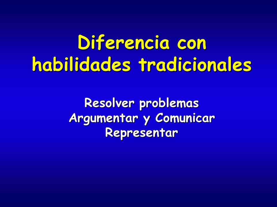 Diferencia con habilidades tradicionales Argumentar y Comunicar