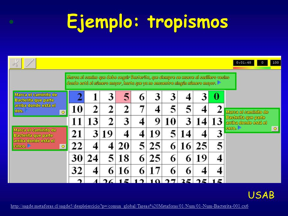 Ejemplo: tropismos USAB
