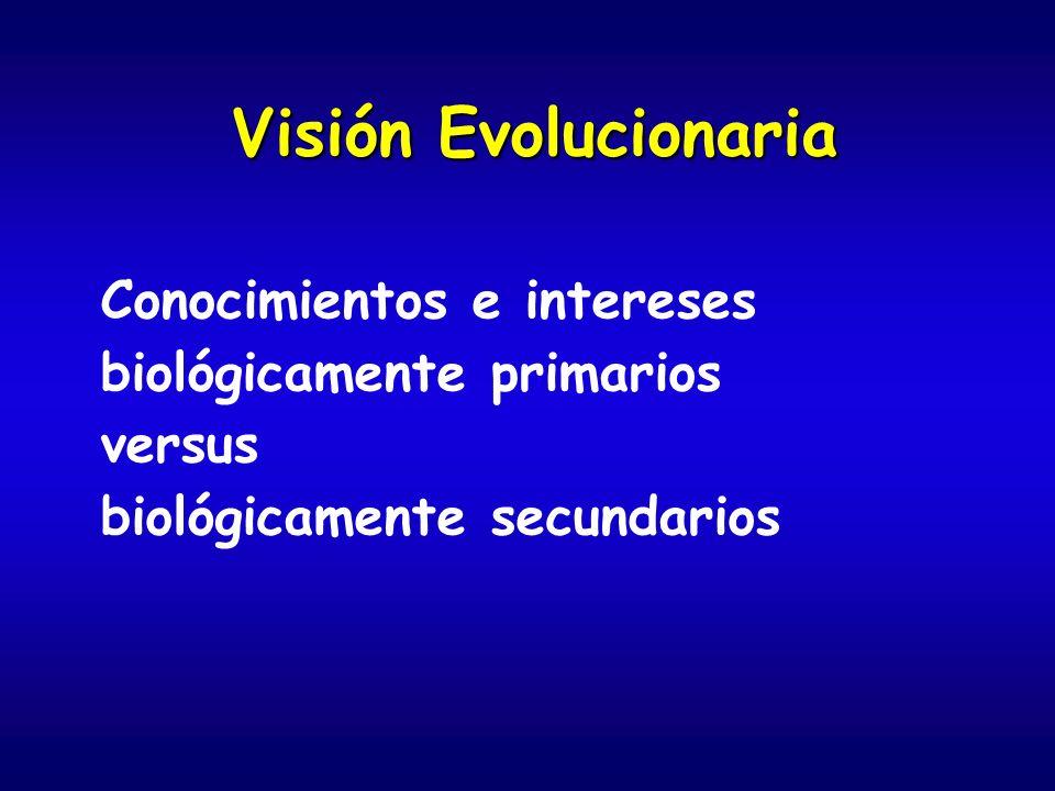 Visión Evolucionaria Conocimientos e intereses