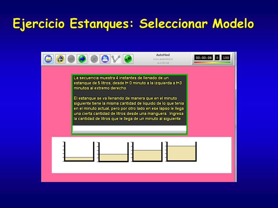 Ejercicio Estanques: Seleccionar Modelo