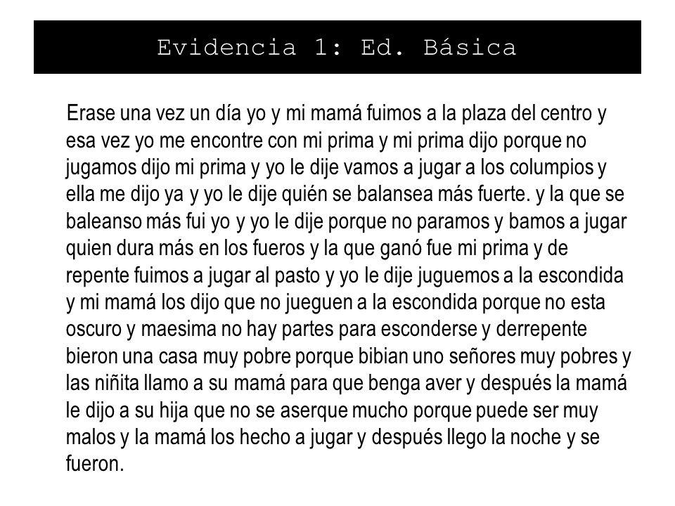 Evidencia 1: Ed. Básica