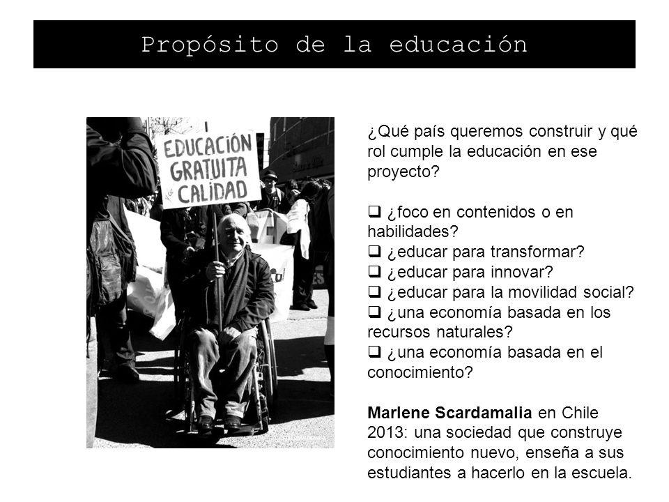 Propósito de la educación