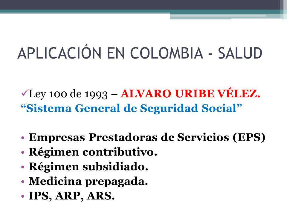 APLICACIÓN EN COLOMBIA - SALUD