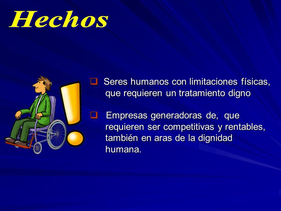 Hechos Seres humanos con limitaciones físicas,