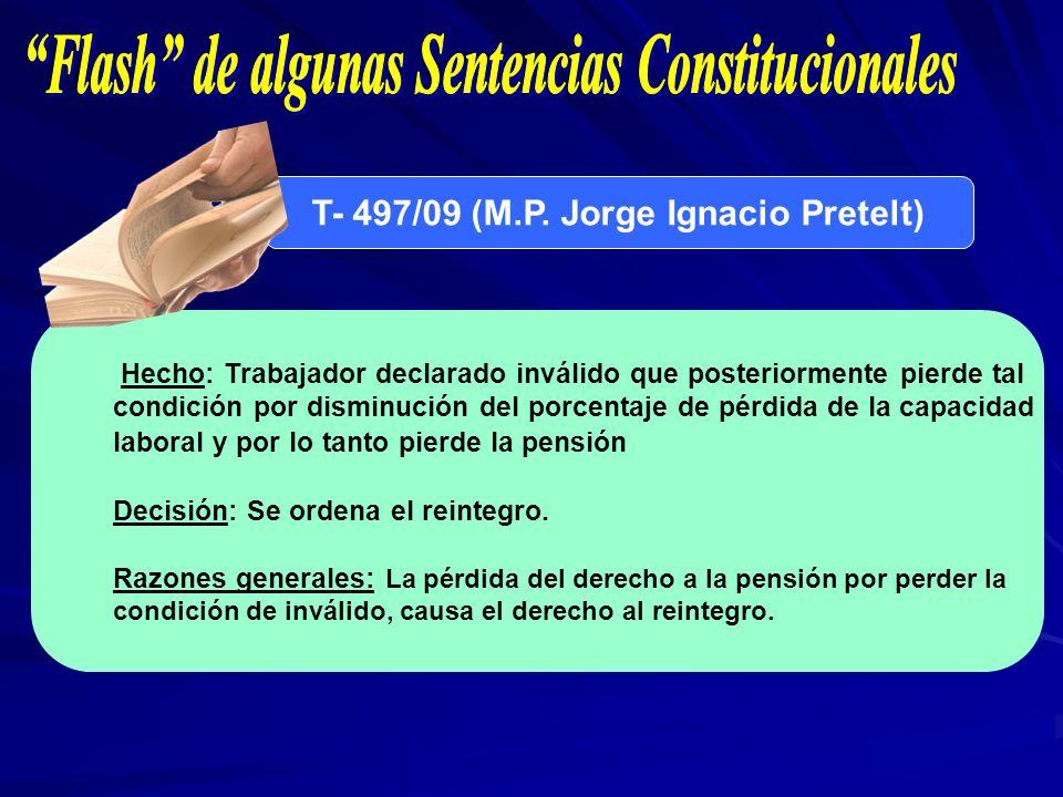 Flash de algunas Sentencias Constitucionales