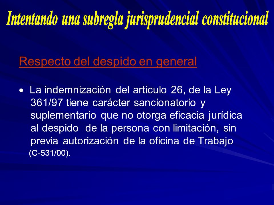 Intentando una subregla jurisprudencial constitucional