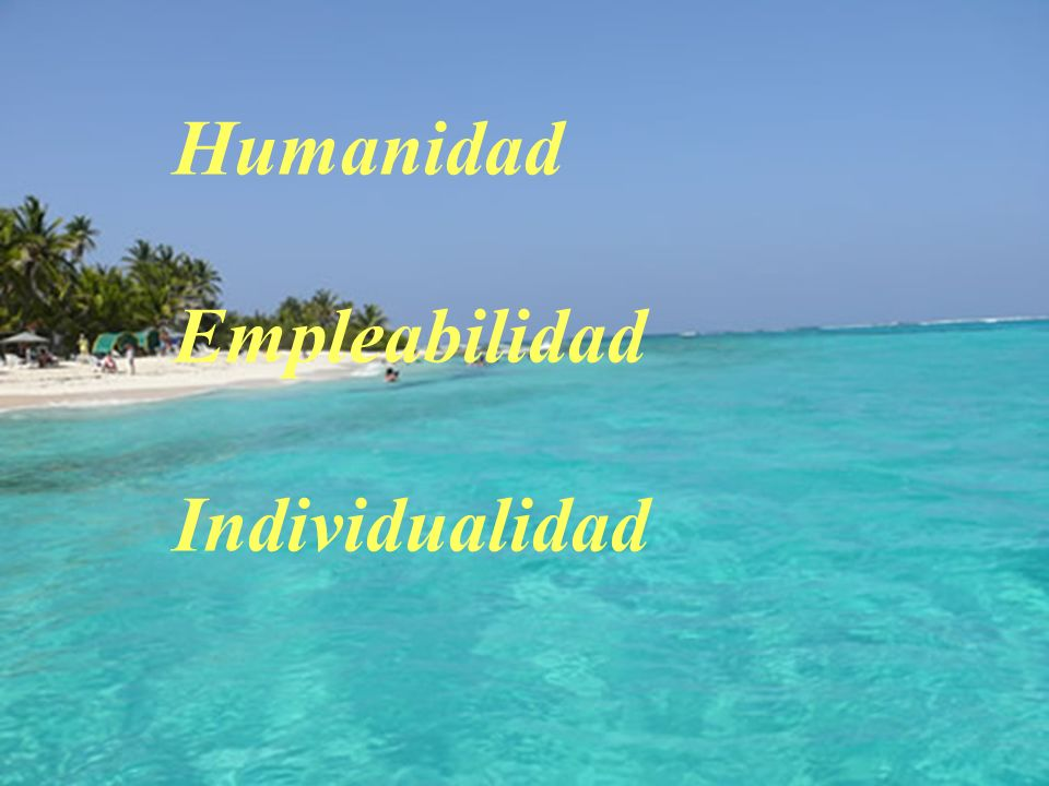 Humanidad Empleabilidad Individualidad