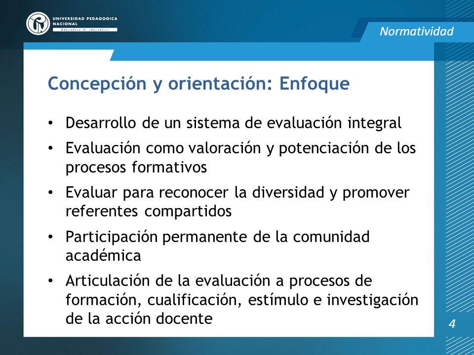 Concepción y orientación: Enfoque