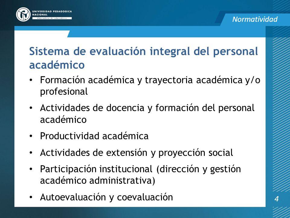 Sistema de evaluación integral del personal académico