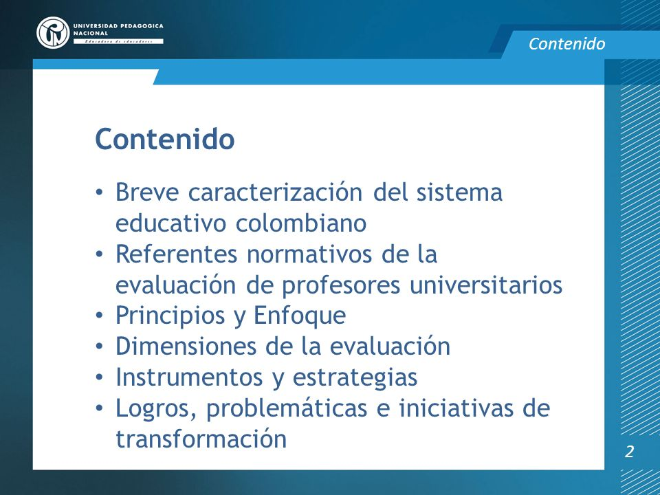 Contenido Breve caracterización del sistema educativo colombiano