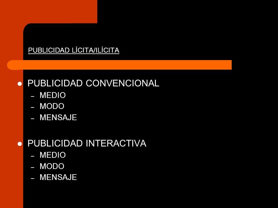 PUBLICIDAD LÍCITA/ILÍCITA