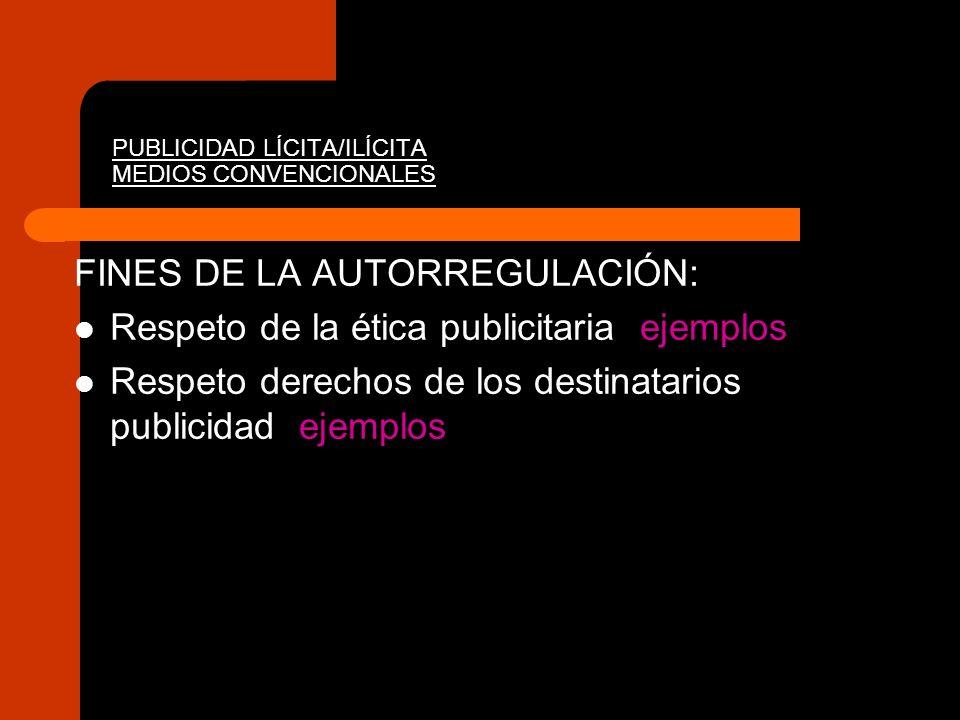 PUBLICIDAD LÍCITA/ILÍCITA MEDIOS CONVENCIONALES